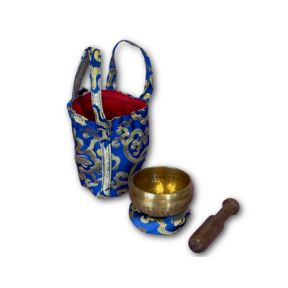 Royal Blue hand beaten singing bowl gift set