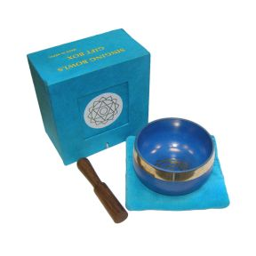 Singing Bowl Gift Box - 3 inch - LIGHT BLUE