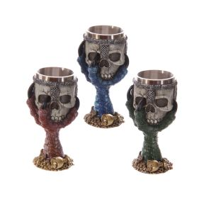 Dragons Claw and Warrior Skull Decorative Goblet