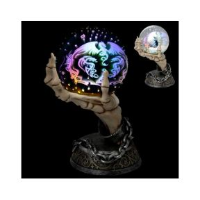Skeleton Hand LED Metallic Orb