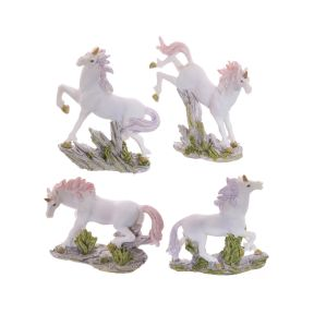 Small Unicorn on Rocks Decoration - Pack of 12