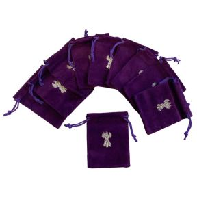 Angel Wings Velvet Pouch Pk/10