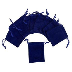 Blue Velvet Pouch - Pk of 10