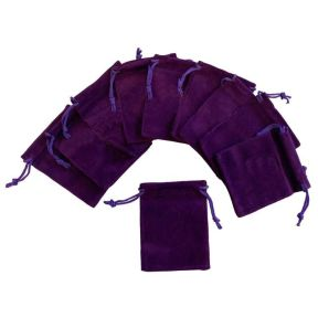 Purple Velvet Pouch - Pk of 10