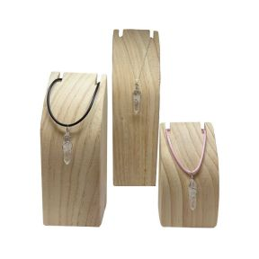 Wooden Neckalce Display Stand - Pack of Three