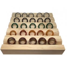 Wooden Ring Tray Display