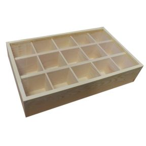 15 Compartment Flat Tray