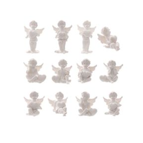 Cherubs holding a heart - Set of 12