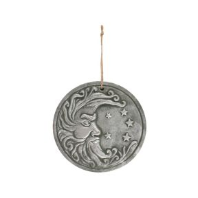 Silver Effect Moon Plaque