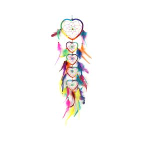 Rainbow Heart Dreamcatcher Chain