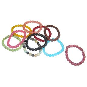 Mixed Crystal Bead Bracelets - Pack of 10