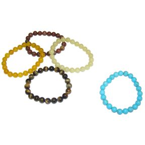 Mixed Crystal Bead Bracelets - Pack of 5
