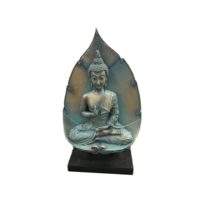 Thai Buddha Figurine Copper & Verdigris - Lotus Enlightenment