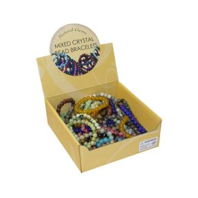 Mixed Bead Bracelets Box 50pc