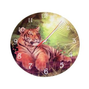 Toby Tiger Clock - by Cindy Grundsten