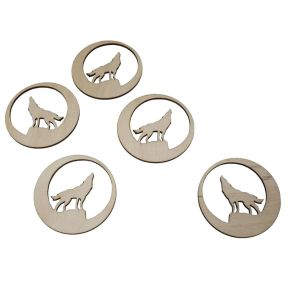 Wolf Design Coaster - Pack of 5