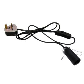 Lamp Lead - 3 Pin Plug - 1 meter cord