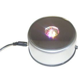 Round LED - Multicoloured with 3 pin UK Adaptor - 240V - 80mm