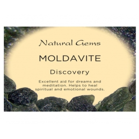 Natural Gems - Moldavite Crystal Information Cards - Pack of 50