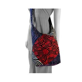 Patch Swirls Shoulder Bag