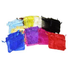 Organza Bags - Mixed - Pk50