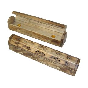 Smoke Box - Decorative Wooden with Brass Motif Pack of 2