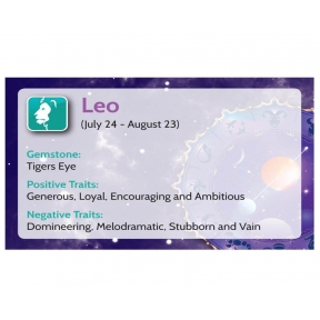Natural Gems - Zodiac Information Cards - Leo - Pack of 50