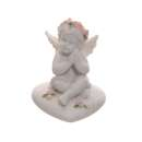 Cherubs With Pink Roses Sitting on a Heart Pack of 4