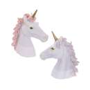 Unicorn Bust Decoration - Pack of 2