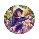 Charlie Chimp Clock -  by Cindy Grundsten